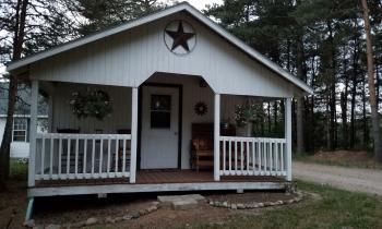 cabin with kitchenette